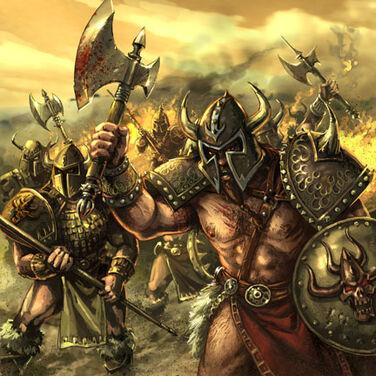 Correligionarios de la Garra de Muerte por Chris Trevas Bárbaros del Caos
