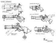 Boceto Pistolas Enanas por Mark Gibbons