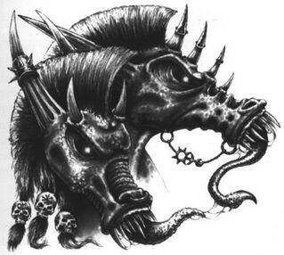 Cabezas Diablos de Slaanesh por Des Hanley