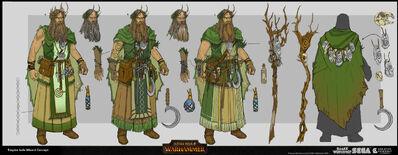 Hechicero jade warhammer total war concept art por Rinehart Appiah