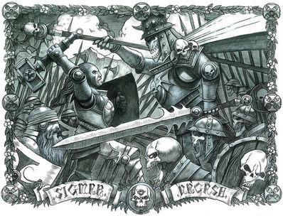 Sigmar contra Nagash por Wayne England