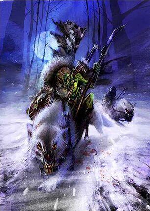 John-gravato-wolf-rider Jinetes de Lobo Goblin