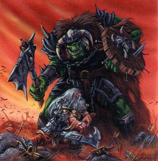 Una muerte valiente por Paul Herbert Enano contra Kaudillo Orco