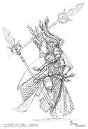 Boceto Guardia del Mar de Lothern Campeón por Mark Gibbons