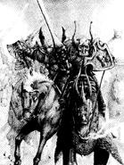 Caballeros del caos nurgle por Adrian Smith
