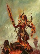 Portada libro de Ejército Demonios del Caos 8ª edición por Paul Dainton Desangrador Heraldo de Khorne