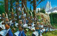 Arqueros Altos Elfos por Adrian Smith