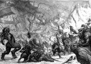 Origen Hombres Bestia Portal por Karl Kopinski