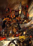 Portada Guerreros del Caos 7ª Edición por Adrian Smith