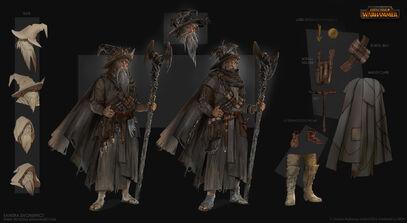 Warhammer Total War Hechicero Gris por Sandra Duchiewicz