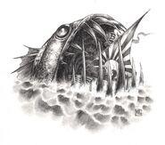 Leviatán Negro por Mark Gibbons Man O' War