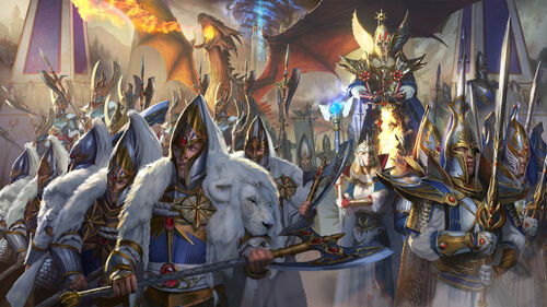 Altos elfos tyrion warhammer total war por Diego Gisbert Llorens