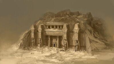 Entrada templo Nehekhara por Daarken Reyes Funerarios
