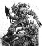 Guerrero Orco espadazo Soldado Imperio por Karl Kopinski