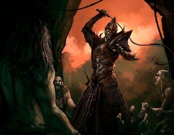 Capataz de Esclavos por Jorge Maese Faroldjo Elfos Oscuros