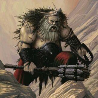 Ogro Cazador Chris Dien ilustración color