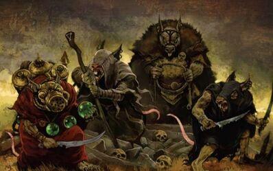 Cuatro Grandes Clanes Skavens Moulder, Skryre, Eshin y Pestilens