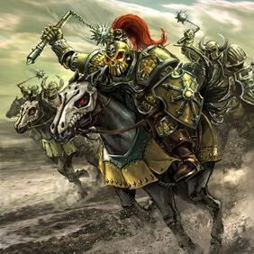 Horda de Bárbaros de Melkior por Chris Trevas Caballeros del Caos