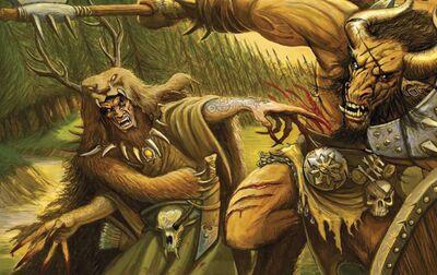 Hechicero Ámbar con Garras de Furia Hombre Bestia