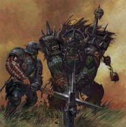 Grandes Espaderos Imperio contra Orco Negro por Adrian Smith