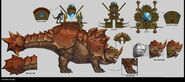 Bastilladon Warhammer Total War concept art