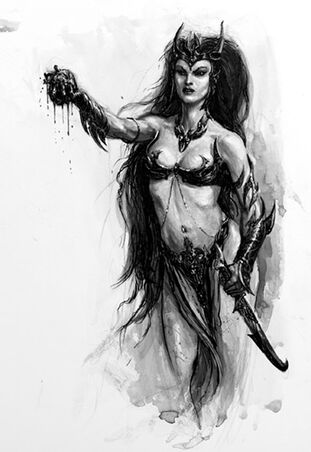 Hechicera Elfa Oscura por Karl Kopinski