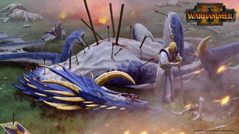 Derrota altos elfos campo batalla warhammer total war por Plamen Genov
