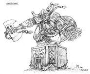 Boceto Señor Enano en Piedra juramento por Mark Gibbons