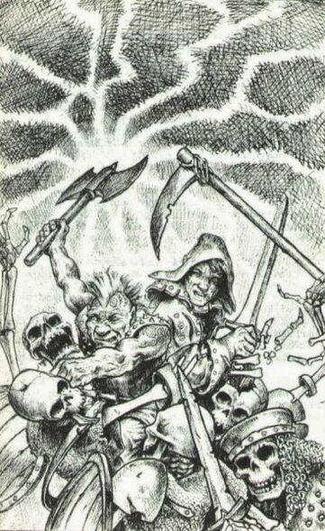 Gotrek y Félix de Paul Bonner Wolf Riders