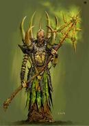 Hechicero del Caos de Nurgle (1) por Adrian Smith