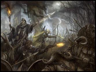 Portada The Gathering Storm por Daarken Hechicero Gris