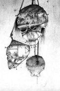 Cráneos de la Muerte de Nurgle por Adrian Smith