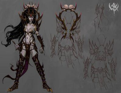 Elfa Bruja 07 Warhammer Online Arte Conceptual