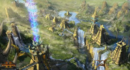 Ciudad slann warhammer total war concept art por Jim Russel-0
