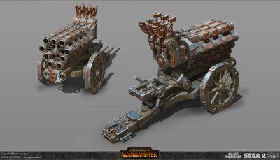 Cañón de salvas warhammer total war por Michal Gutowski