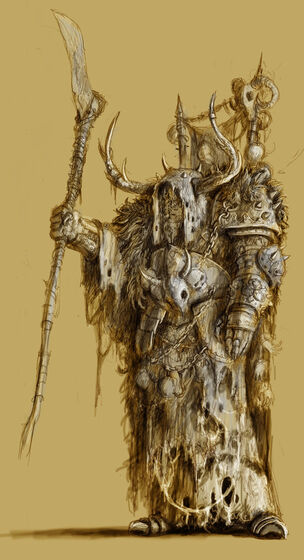 Hechicero del Caos Nurgle warhammer Mark of Chaos