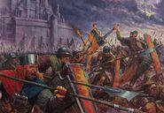 Hombres de armas por Karl Kopinski Bretonia
