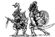 Khornegors por John Blanche