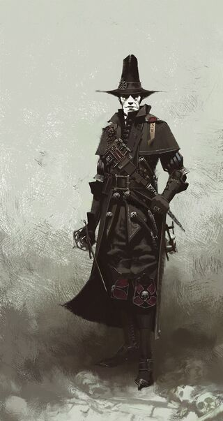 Victor Saltzpyre Cazador de Brujas Arte Conceptual Warhammer Vermintide