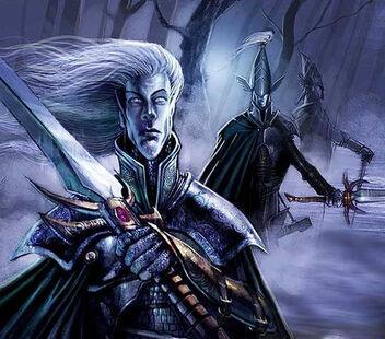 Vigilancia Nocturna Hermandad de la Espada de Belannaer por John Gravato Altos Elfos Maestros de la Espada