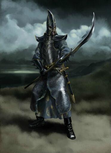 Guerrero Elfo Oscuro por Gergely Fejervary Warhammer Mark of Chaos
