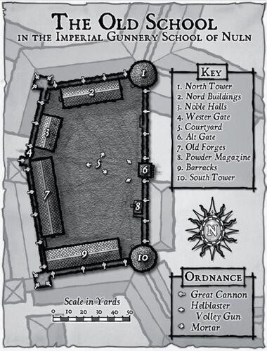 Mapa Escuela Imperial de Artillería