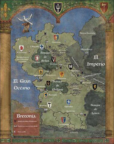 Mapa bretonia Ducados