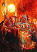 Mundvard el Cruel, el Señor de las Sombras por John Blanche