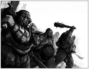 Tripasduras Reinos Ogros 6ª Edición ilustración B&N