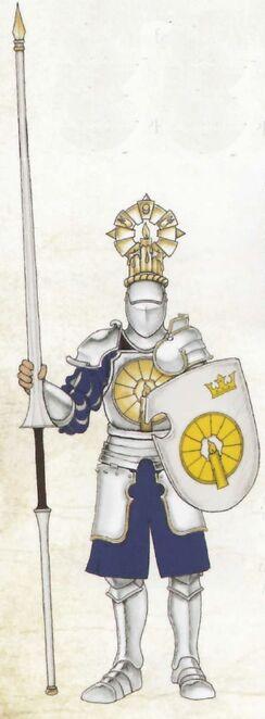 Caballero Luz Eterna a pie