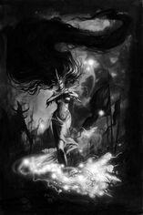 Hechicera Elfa Oscura por Dave Gallagher