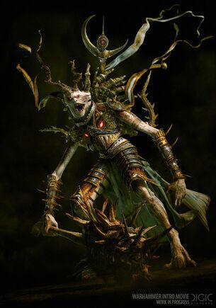 Príncipe Demonio Tzeentch cinemática warhammer Mark of Chaos