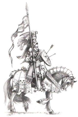 Caballero Reiksguard a Caballo por John Blanche