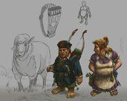 Halflings Warhammer Online por Michael Phillippi